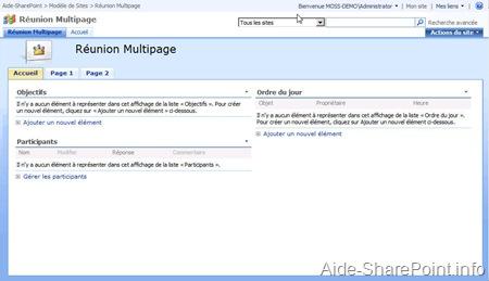 Réunion multipage