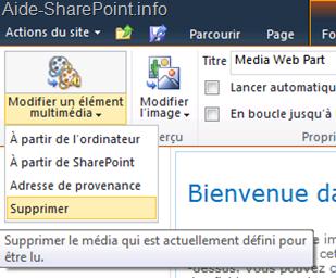 Option Media du WebPart