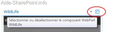 Sélection d'un WebPart en SharePoint 2010