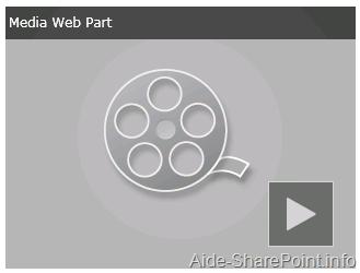 Webpart vidéo de SharePoint 2010