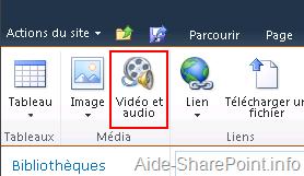 Icône de Vidéo et Audio