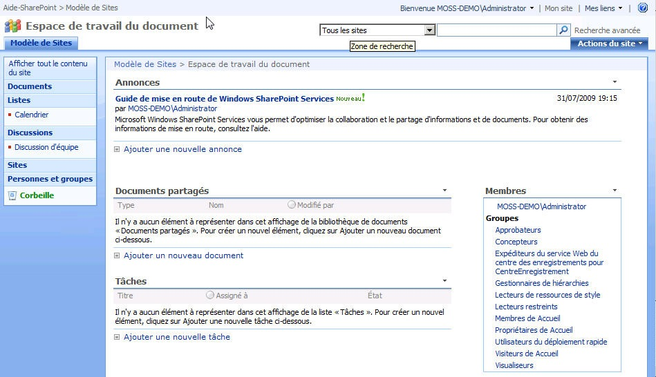 Les mod les de site partie 1 aide et tutoriel sur for Espace minimum de travail