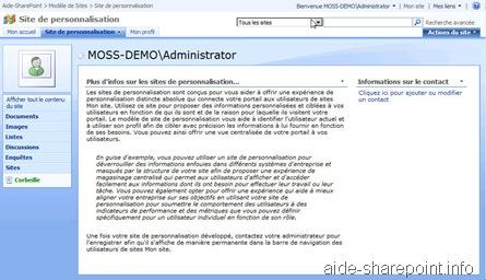 Site de personnalisation